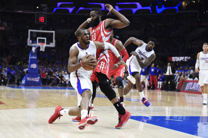James Harden and Chris Paul  2