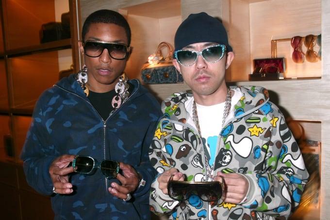 Pharrell and Nigo in LV Millionaire Sunglasses