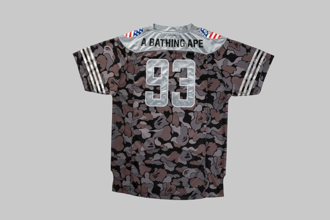 Adidas Football by Bape Jersey 'Black' (Back)