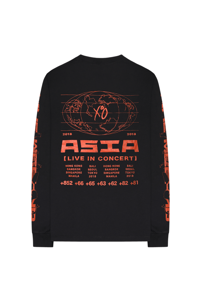 the weeknd asia longsleeve back
