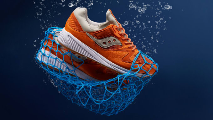 8fe9f1e2a5bc END. and Saucony Collaborate on the Grid 8500 Lobster