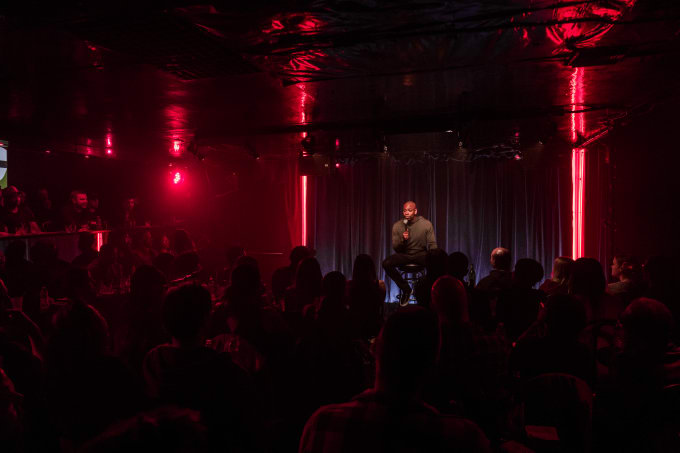 Dave Chappelle at The Comedy Store filming 'The Bird Revelations'