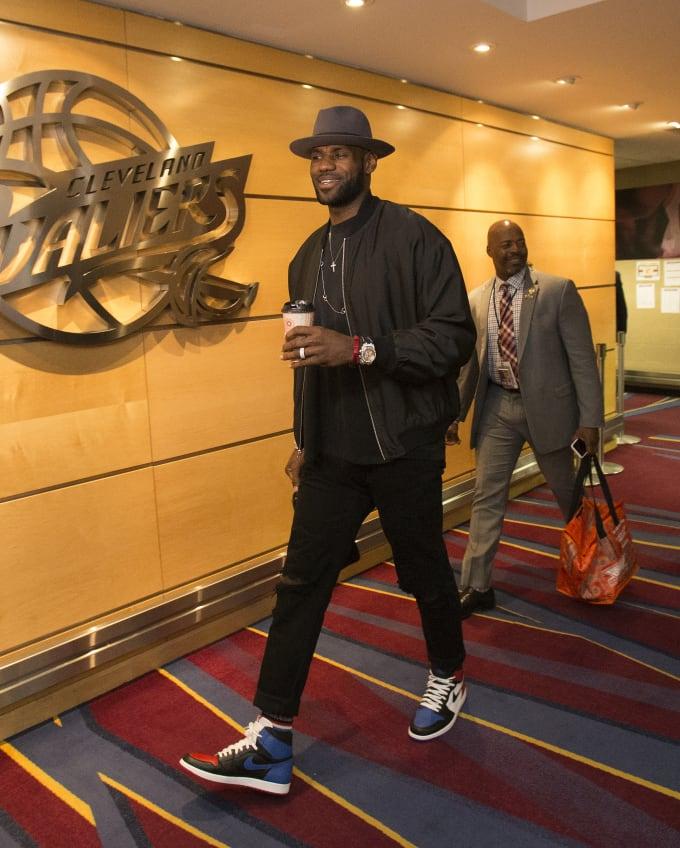 LeBron James Wearing John Elliott