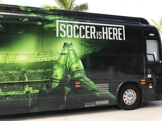 heineken bus