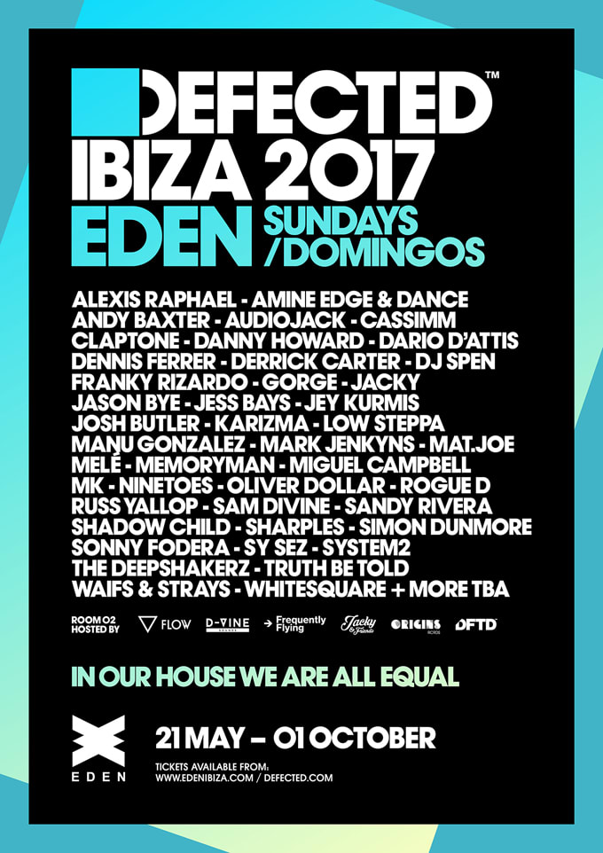 Defected Ibiza 2017 flyer