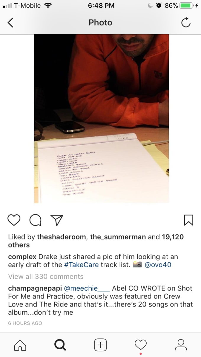 Drake Goes Off on Fan Who Says The Weeknd Wrote Most of 'Take Care'