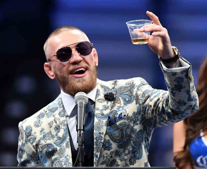 Conor McGregor Toast Post Fight Press Conference 2017