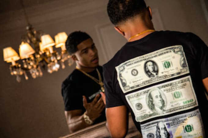Justin Combs dollar bills