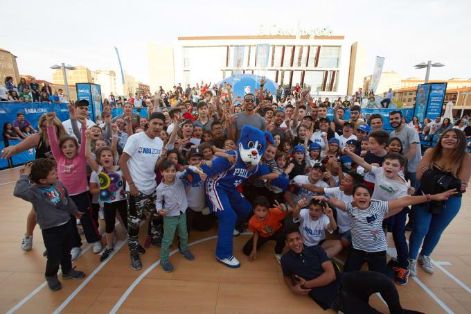 CJ McCollum at NBA Zone in Spain