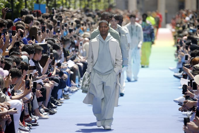 Kid Cudi in Louis Vuitton show