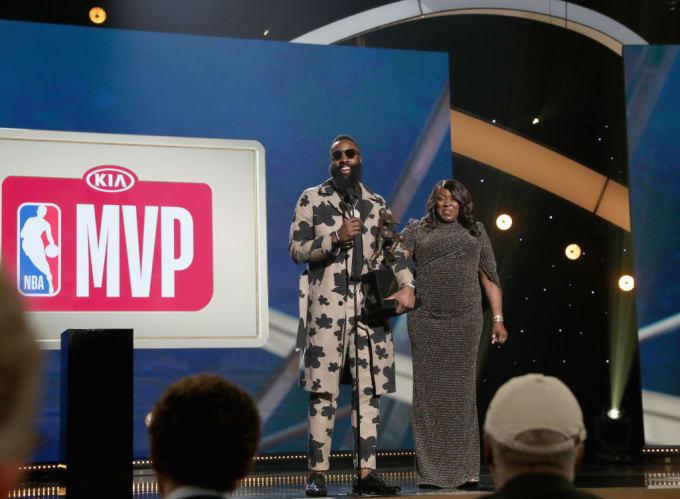 James Harden MVP 2018 NBA Awards Getty