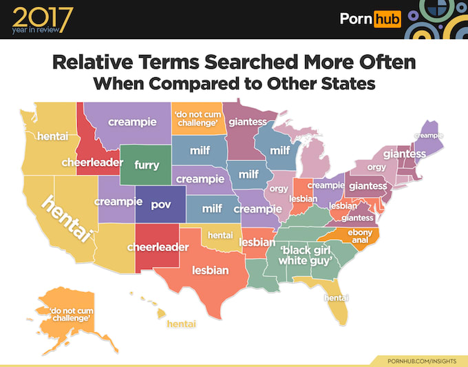 Pornhub most searched by state