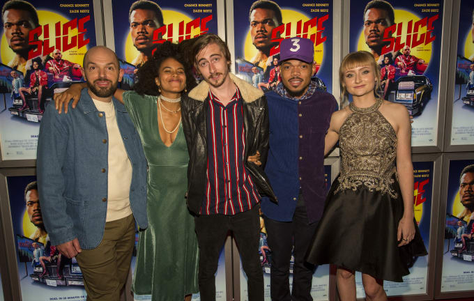 Paul Scheer, Zazie Beetz, Austin Vesely, Chance the Rapper and Rae Gray