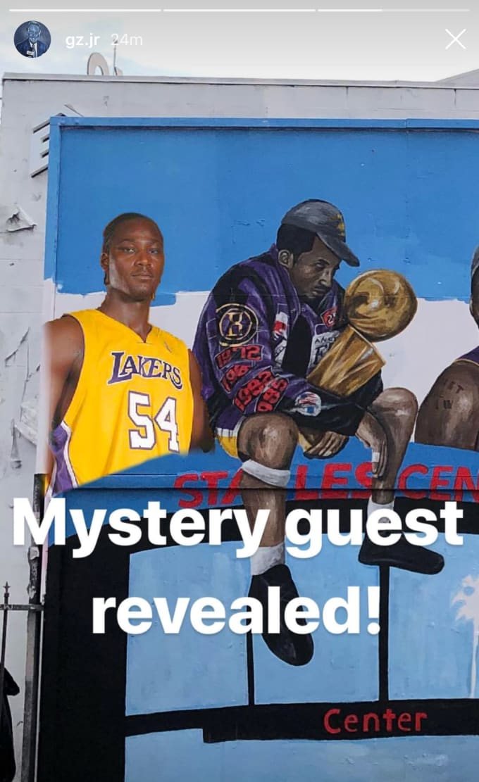 LeBron James Mural Kwame Brown