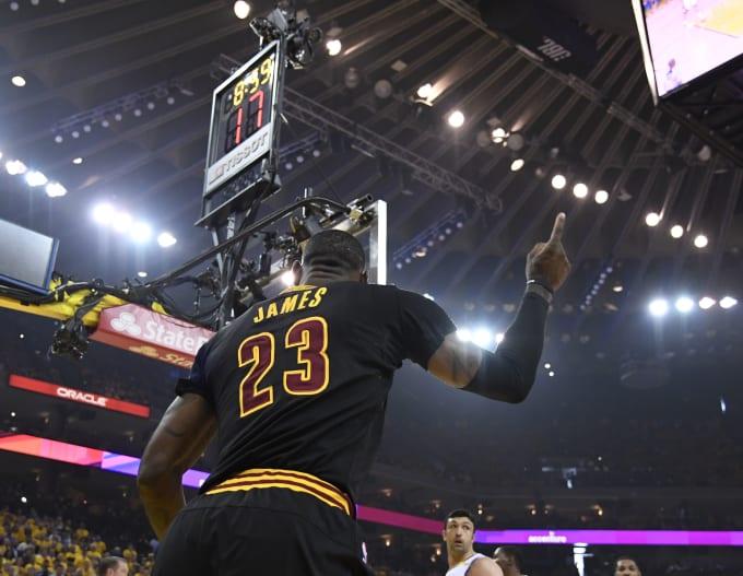 LeBron James NBA Finals Game 5 2017