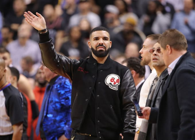Drake Raptors Warriors Nov 2018