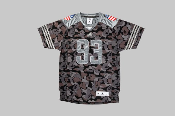 Adidas Football by Bape Jersey 'Black' (Front)