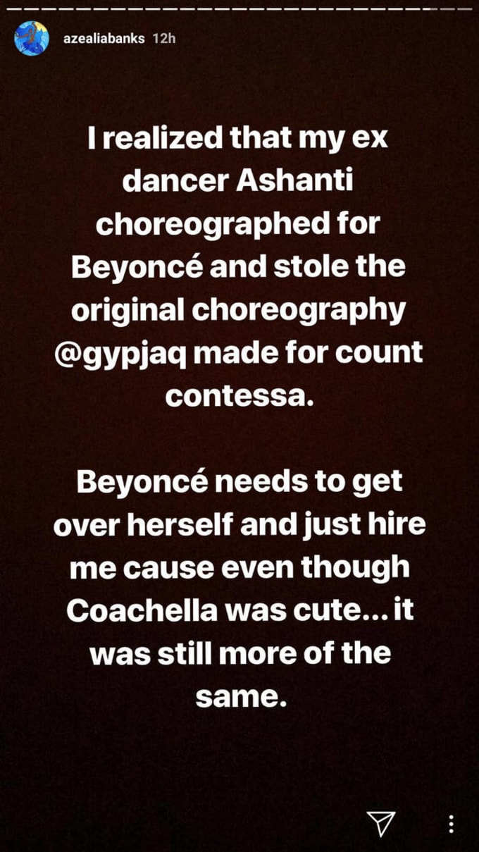 Azealia Banks Criticizes Beyoncé
