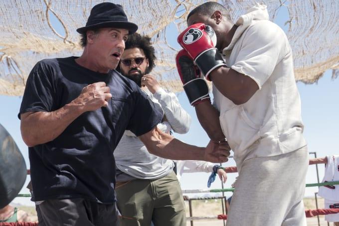 Sylvester Stallone and Steven Caple Jr.