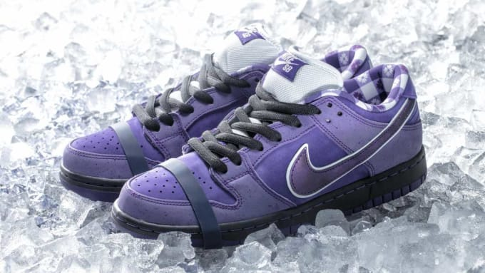 Concepts x Nike SB Dunk Low Purple Lobster Release Date Pair