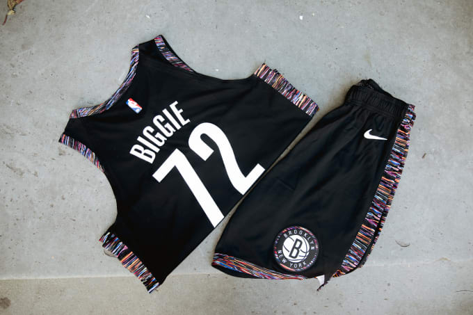 Brooklyn Nets Biggie Jersey Shorts 2018-19 Nike City Edition
