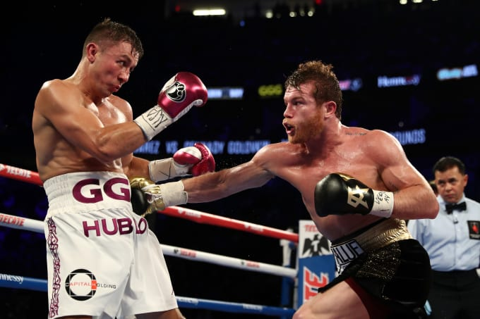 Canelo GGG First Fight Pic 2018 Getty