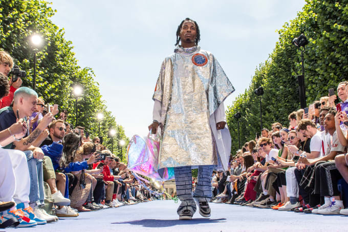 Playboi Carti in Louis Vuitton show