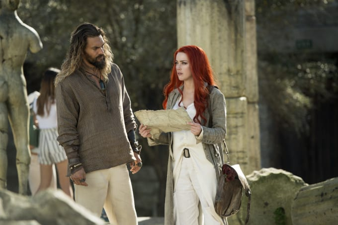 Jason Momoa and Amber Heard in 'Aquaman'