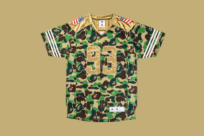 Adidas Football by Bape Jersey 'Green' (Front)