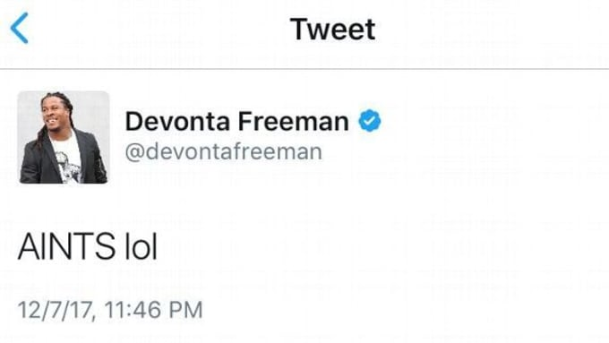 Devonta Freeman tweet.