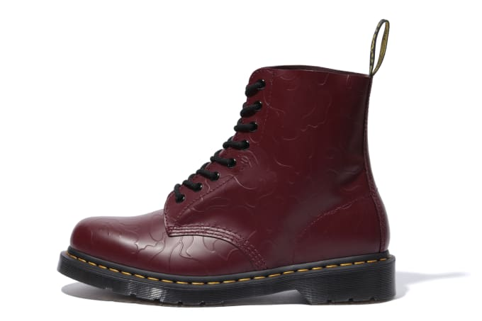 Bape x Dr. Martens 1460 'Red' (Lateral)