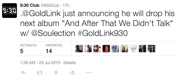 goldlink announcement