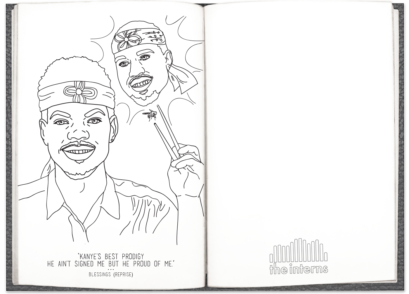 Chance The Rappers Coloring Book Lyrics Are Now A Coloring Book