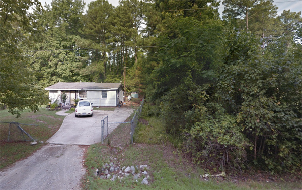 Google Maps image of 2700 Alpha Dr. in Raleigh, North Carolina