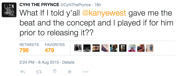 Cyhi The Prynce Takes Aim At Kanye West On Quot Elephant In