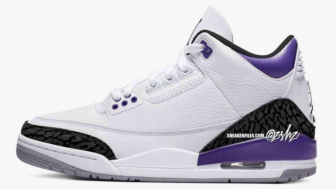 A White and Purple Air Jordan 3 Debuts Next Summer