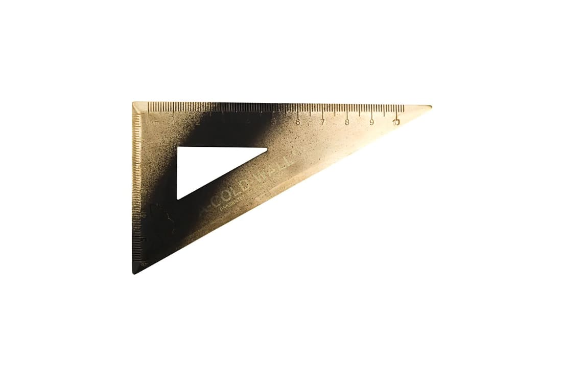 A Triangle Ruler From A Cold Wall