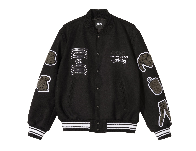 CdG x Stussy Varsity Jacket