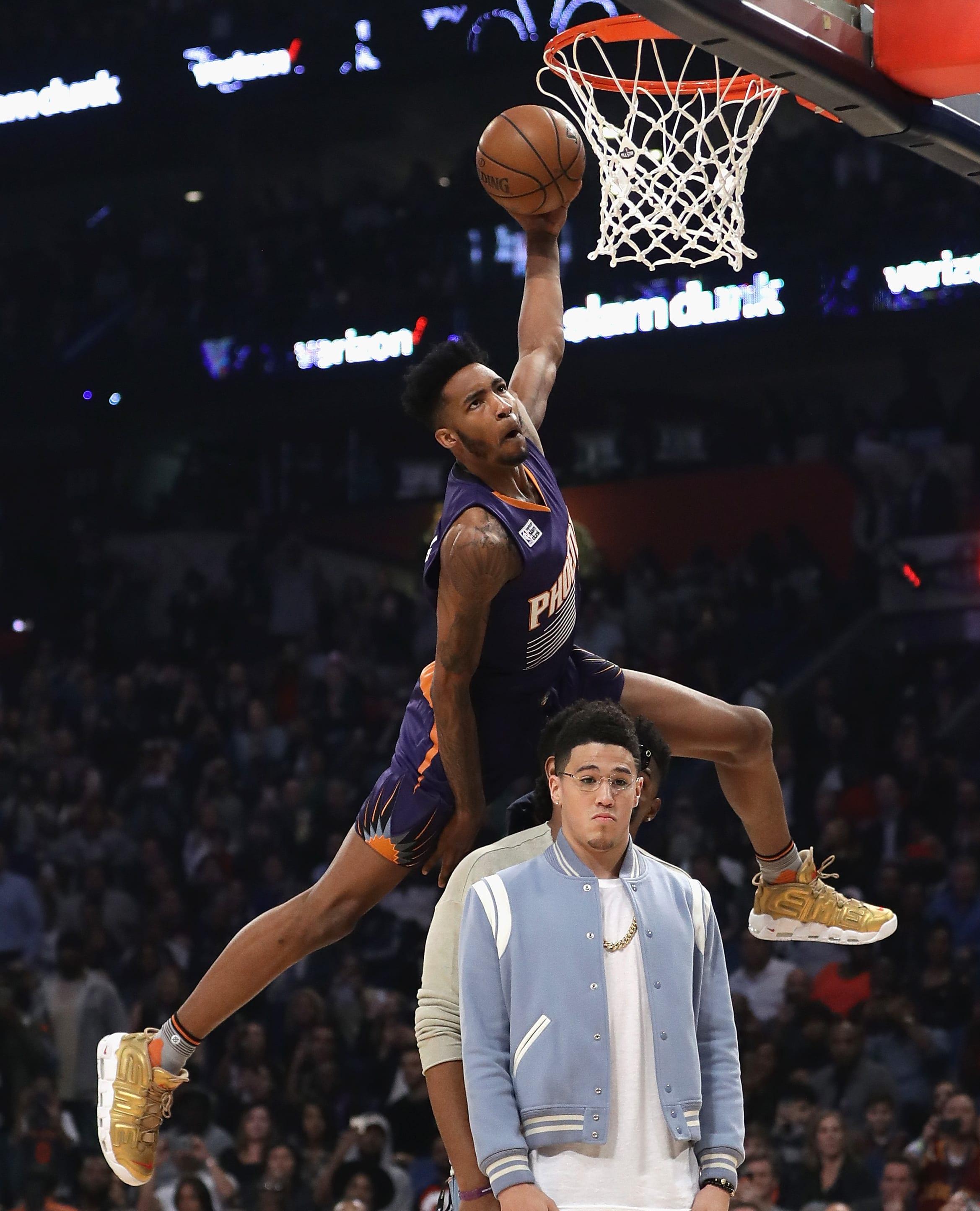 Derrick Jones Jr. Nike Air More Uptempo Supreme Gold