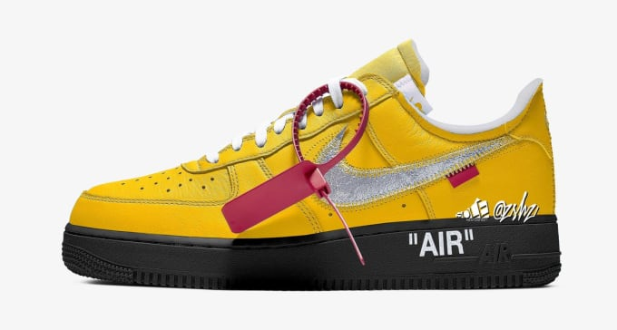 Off-White x Nike Air Force 1 Low 'University Gold' Mock-up