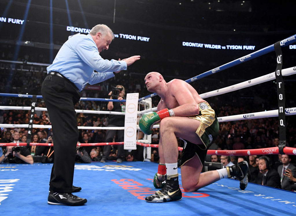 Tyson Fury Knockdown 2018 Deontay Wilder Getty
