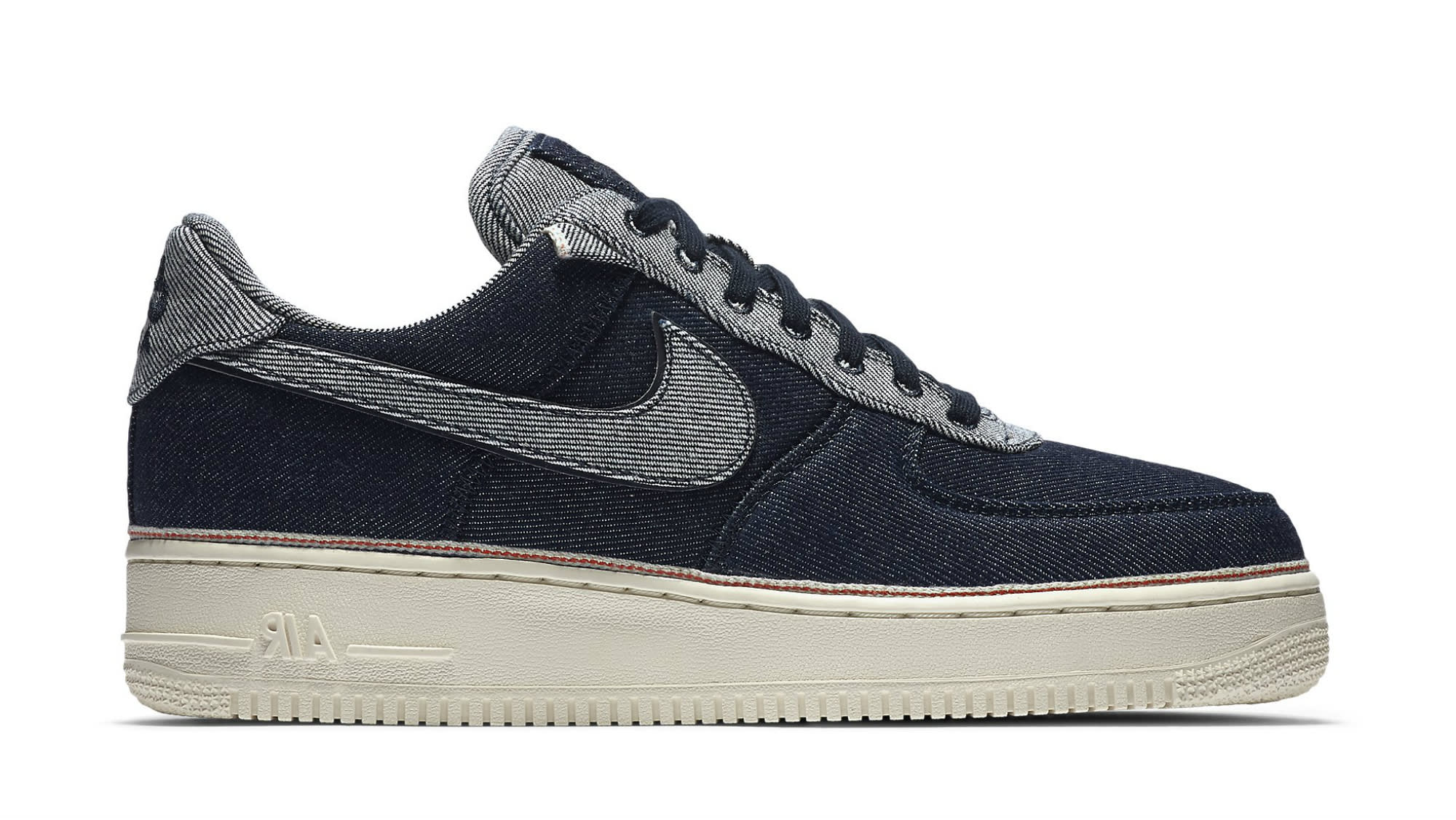 best authentic 66a91 f7805 Image via Nike 3x1-nike-air-force-1-low-raw-indigo-