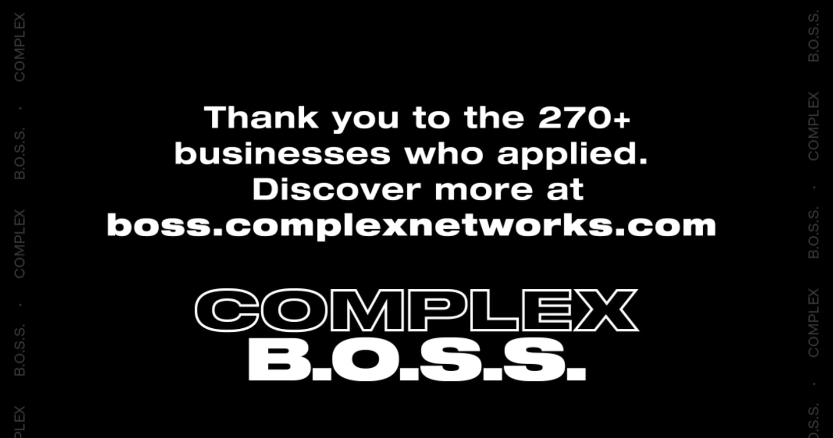 Complex B.O.S.S. Thank You