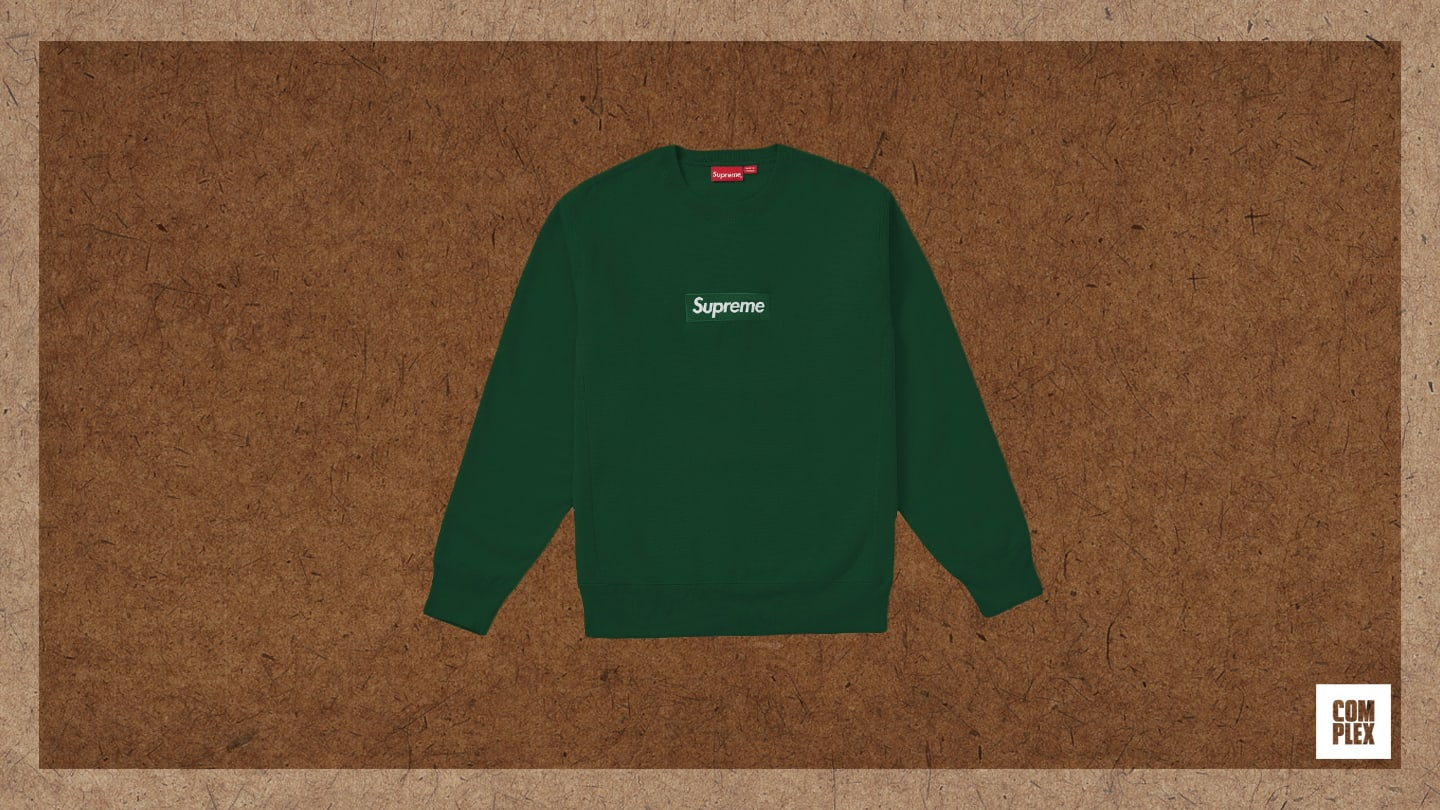 Complex Last 10 Things Eric Whiteback Green Supreme Crewneck