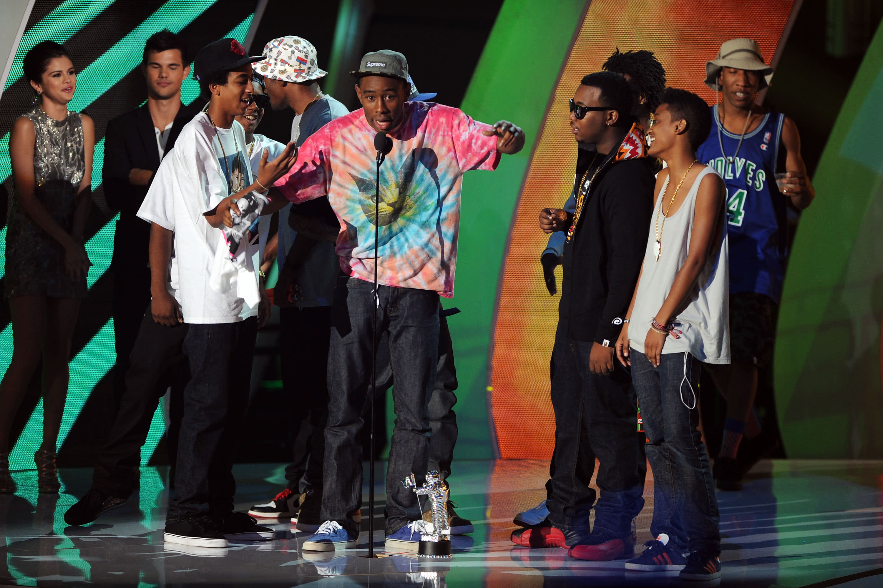 Tyler The Creator Accepts The MTV VMA For Best New Artist