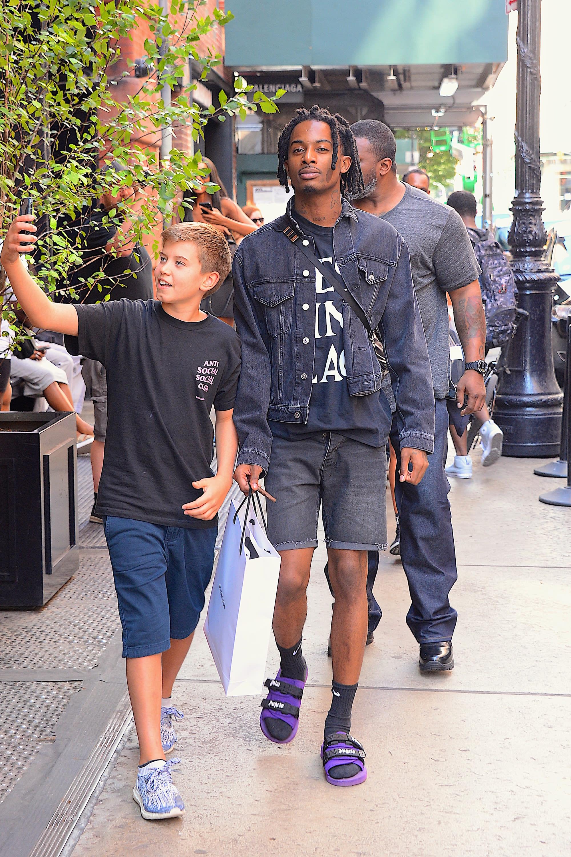 Playboi Carti Walking in New York City