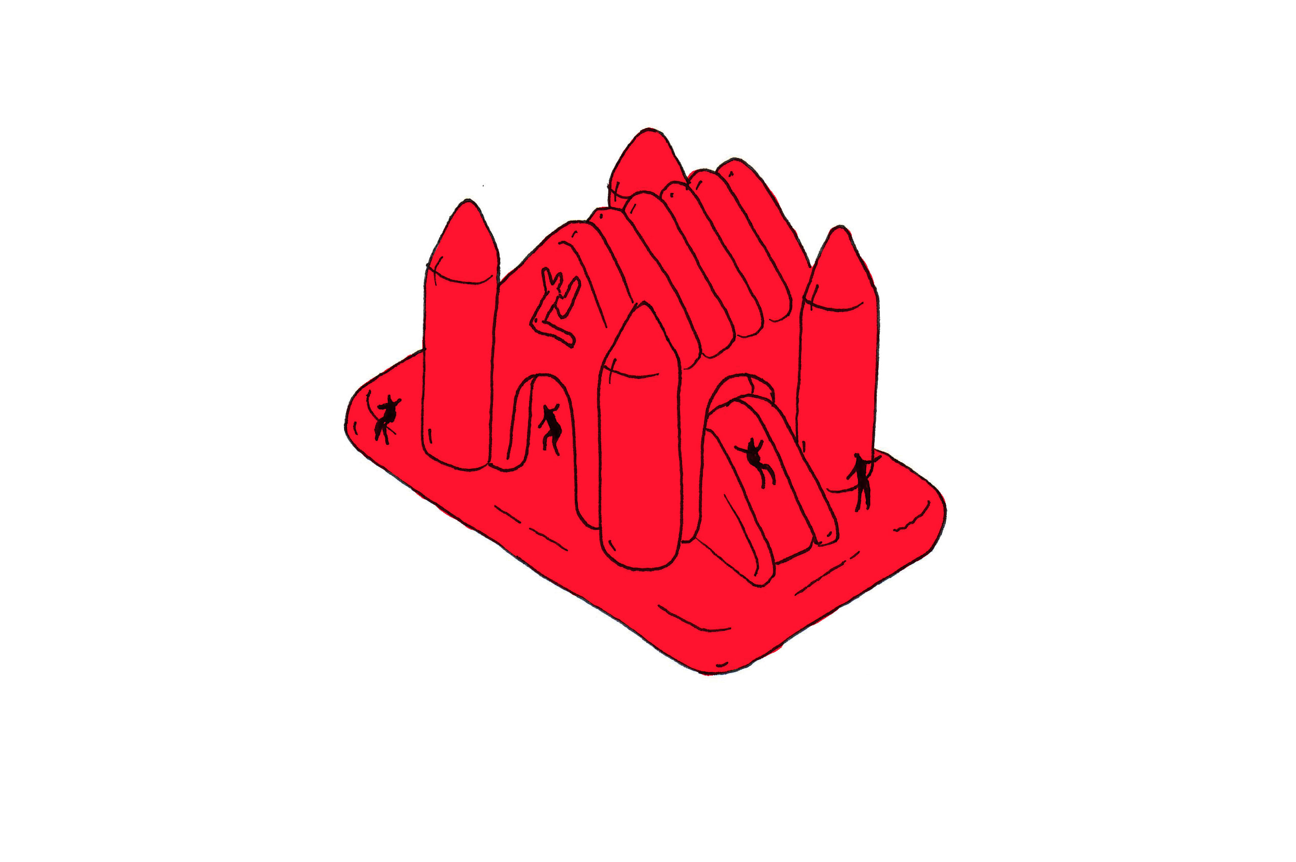 Louis Vuitton Bounce Castle Sketch by Playlab