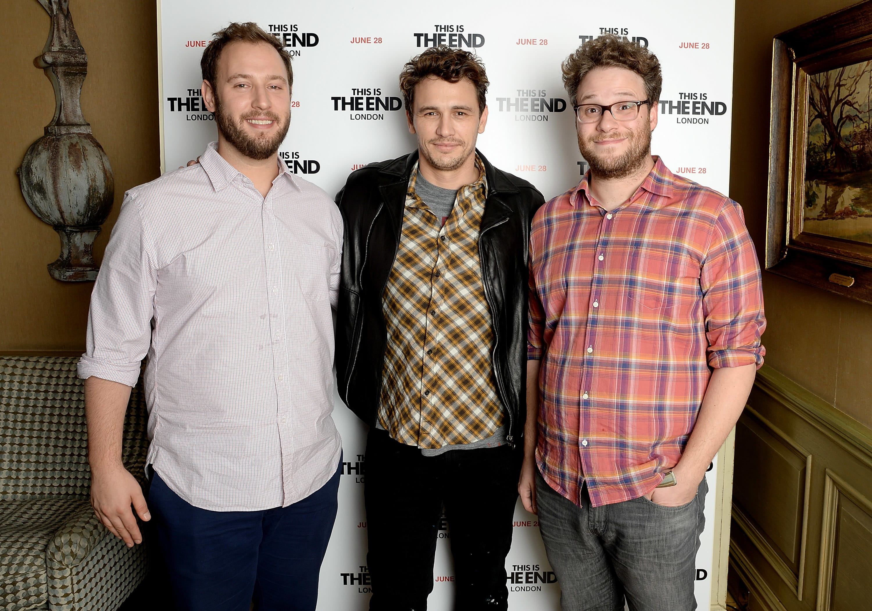 Evan Goldberg, James Franco and Seth Rogen at a special screening of 'This Is The End'