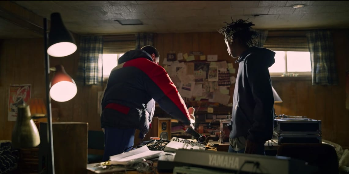 Divine Wearing A Vintage Tommy Hilfiger Puffer in Wu-Tang: An American Saga