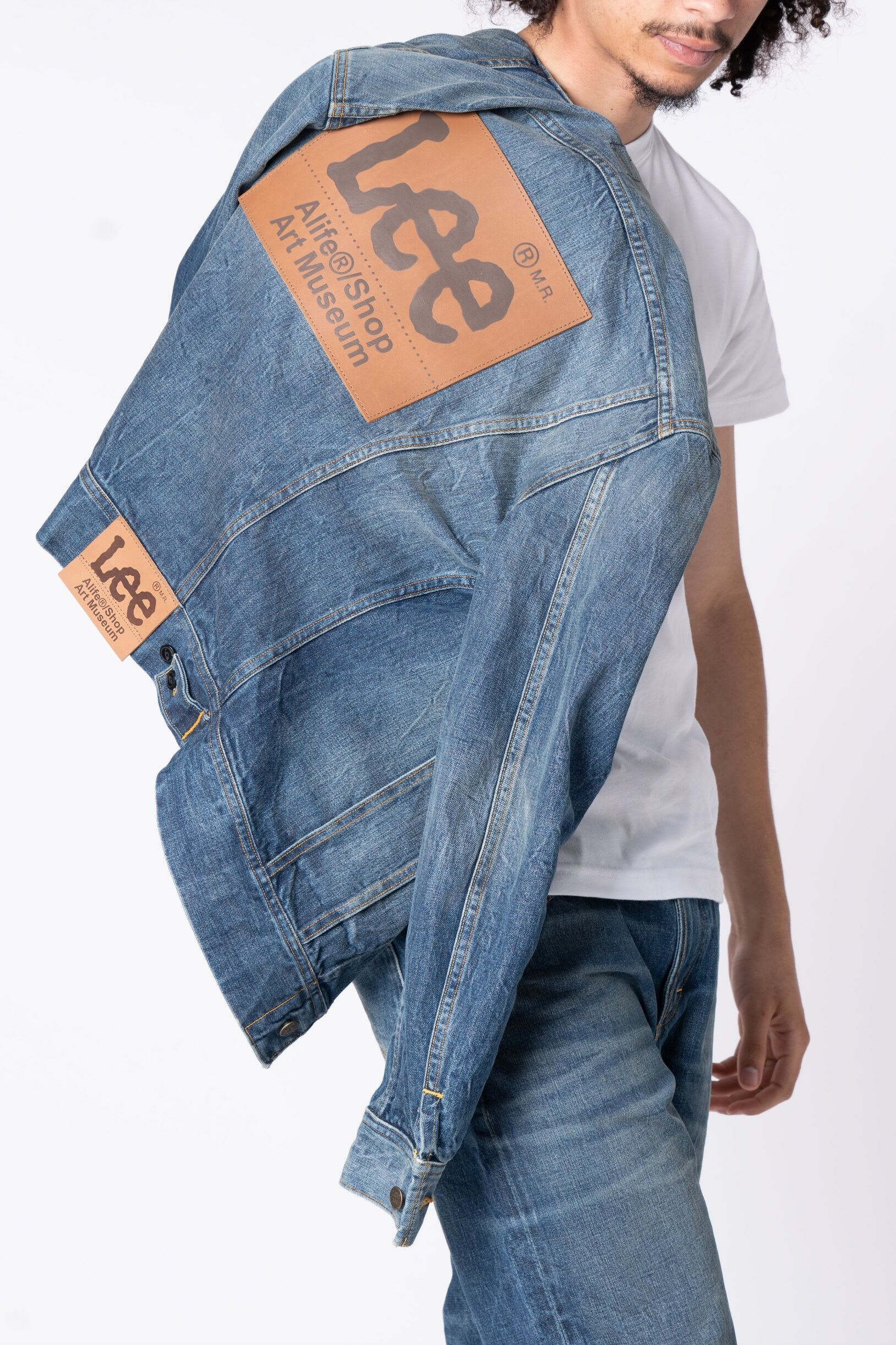 Alife x Lee Denim Leather Patch Jean Jacket